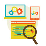 Bug in the programming code. Flat Vector illustration eps 10 Royalty Free Stock Photos
