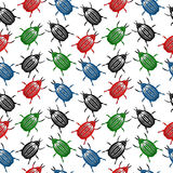 Bug seamless pattern Stock Photos