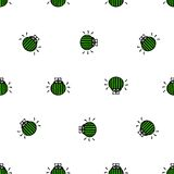 Bug seamless vector pattern Stock Images