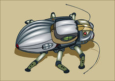 The bug-spy. Cybernetic toy, the vector image stock illustration