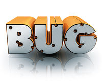 Bug text Royalty Free Stock Photo