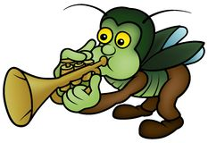 Bug and Trumpet Stock Photography