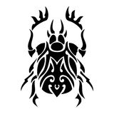 Bug vector tattoo Stock Photos