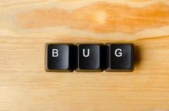 Bug word Royalty Free Stock Photos
