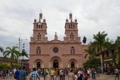 Buga Valle del Cauca, Colombia - Januari 9, 2017: Basilika av Herren av miraklen Royaltyfria Bilder