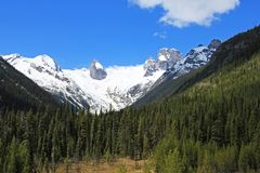 Bugaboo Spires in Bugaboo Provincial Park, British Columbia. Canada Royalty Free Stock Photos