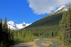 Bugaboo Spires in Bugaboo Provincial Park, British Columbia. Canada Royalty Free Stock Photography