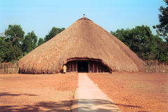 Buganda Koninklijke graven, Kampala, Oeganda Stock Foto's