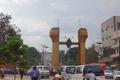 The Buganda monument in Kampala Stock Images