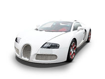 Bugatti Veyron. Front of white Bugatti Veyron luxury sports car Stock Photo