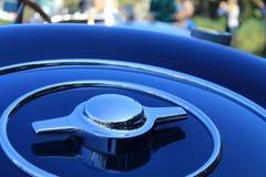 Bugatti备用轮胎盖子细节01 库存照片