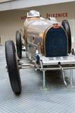 Bugatti类型51从1931个立场的首要的赛车在全国技术博物馆 免版税库存图片