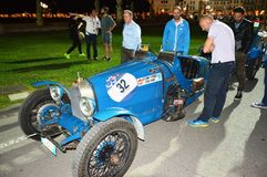 Bugatti类型37 1927年,在1000英里赛跑 库存图片