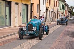 Bugatti类型23 1920年在Mille Miglia 2017年 免版税库存照片