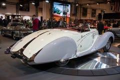 1938年Bugatti类型57c Gangloff跑车葡萄酒汽车 库存照片