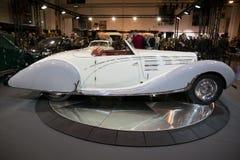 1938年Bugatti类型57c Gangloff跑车葡萄酒汽车 免版税库存图片