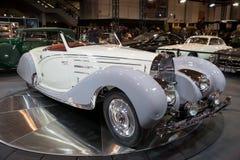 1938年Bugatti类型57c Gangloff跑车葡萄酒汽车 免版税图库摄影