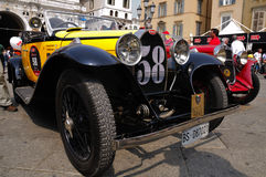 bugatti 1000 1930 40a построило тип желтый цвет miglia Стоковая Фотография