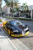 在圈地驱动器的Bugatti 库存照片