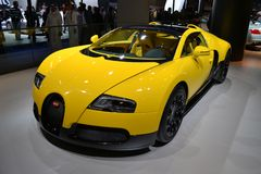 BUGATTI. At Qatar Motor Show Second Exhibition on the 25th of January 2012 royalty free stock photos