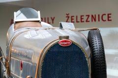 Bugatti-Art 51 Stände Premierrennwagens ab 1931 im nationalen technischen Museum Stockbild