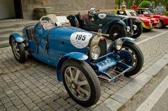 Bugatti 37 au drapeau 2017 d'argent de Vernasca Images stock