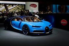 Bugatti Chiron Женева 2016 стоковые фотографии rf