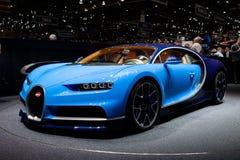 Bugatti Chiron en Ginebra fotografía de archivo libre de regalías