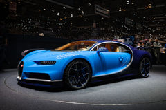 Bugatti Chiron in Genève royalty-vrije stock afbeelding