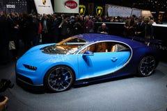 Bugatti Chiron in Genève Royalty-vrije Stock Foto