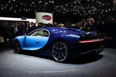Bugatti Chiron in Genève stock foto's