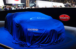 Bugatti Chiron onder dekking royalty-vrije stock fotografie