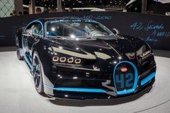 Bugatti Chiron sportbil Arkivbild