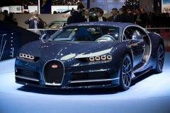 Bugatti Chiron sports car. GENEVA, SWITZERLAND - MARCH 7, 2017: New Bugatti Chiron sports car presented at the 87th Geneva International Motor Show Stock Photography