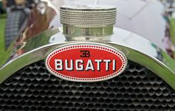 Bugatti. HERSHEY, PA-JUNE 16, 2013: Bugatti name lives on at the Elegance at Hershey on June 16, 2013. Bugatti cars were known for their design beauty and race Stock Photography