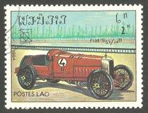 Bugatti. Laos - stamp 1984, Issue Means of transport, Series 19th UPU Congress, Bugatti Stock Photo