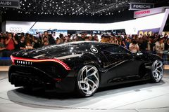 Bugatti los angeles Voiture Noire zdjęcie stock