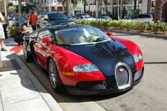 Bugatti on Rodeo Drive. A Bugatti on Rodeo Drive in Beverly Hills California July 2010 Stock Image