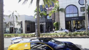 Bugatti on Rodeo Drive stock footage