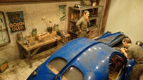 Bugatti 57 SC Atlantic scale model diorama Royalty Free Stock Images
