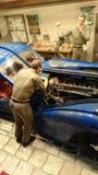 Bugatti 57 SC Atlantic scale model diorama Royalty Free Stock Photography