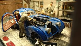 Bugatti 57 SC Atlantic scale model diorama Royalty Free Stock Photos
