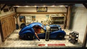 Bugatti 57 SC Atlantic scale model diorama Royalty Free Stock Image