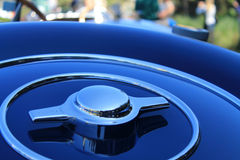 Bugatti spare wheel cover detail 01 Stock Photos