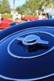 Bugatti spare wheel cover detail 02 Stock Photo