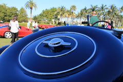 Bugatti spare wheel cover detail 04 Stock Photography