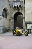 黄色Bugatti T35A 免版税库存照片