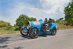 Bugatti T 13 Brescia Corsa (1924) runs in Mille Miglia 2014 Stock Images