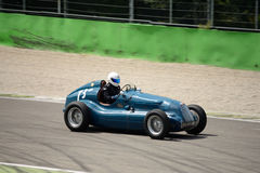 1945 Bugatti T37C Grand Prix car. A Historic Grand Prix Cars Association event was hosted at Monza in occasion of the 2016 Intereuropean Cup Royalty Free Stock Photo