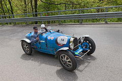 Bugatti T 35 T in rally Mille Miglia 201 Royalty Free Stock Photos